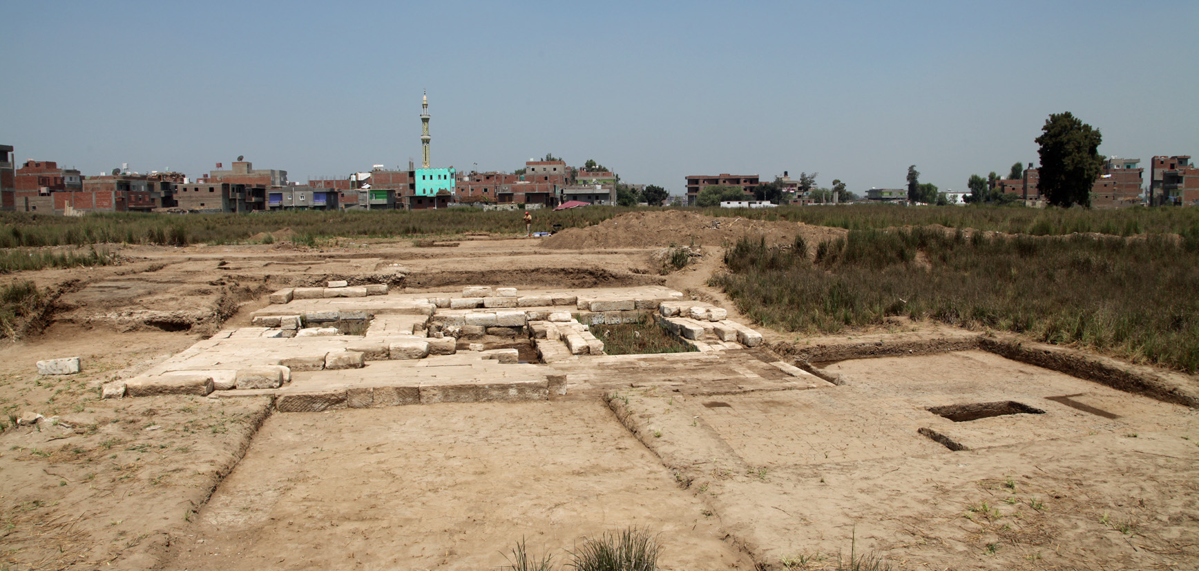 A view across the archaeological remains at Tell Timai