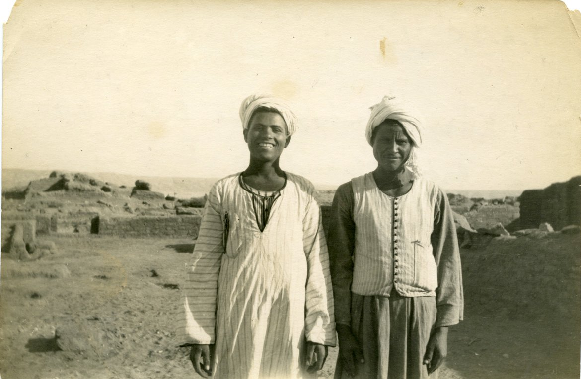 Kassar Umbarak on the left in a photograph that he sent to          Hilary (TA.WAD.01.PICT.08)