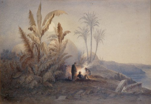 ART.212, Arab tombs                                              near Siout by Amelia                                              Edwards, 1877