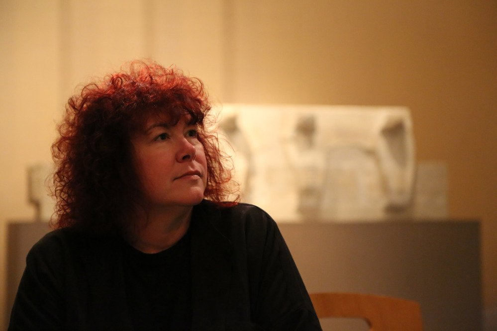 Prof Joann Fletcher at the Imhotep Museum, Saqqara. Copyright Dr Amr Aboulfath.