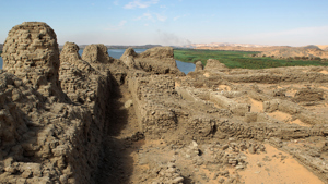 A view across the substantial remains at the fortress of Shalfak