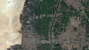 A satellite image of the area around ancient Memphis