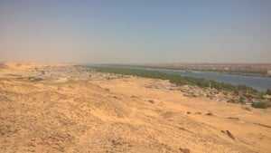 A view over west Aswan from the Qubbet el-Hawa