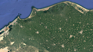 Satellite image of the northern Delta coastline