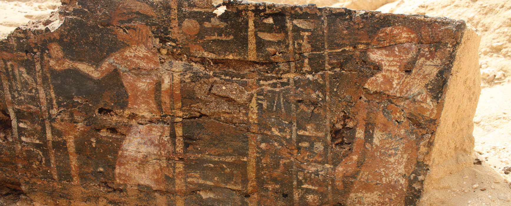 A coffin recently excavated at Amarna by the Amarna            Project