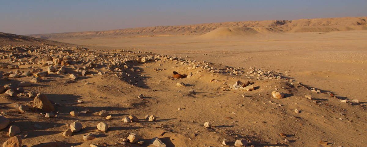 View across the stone village at Amarna