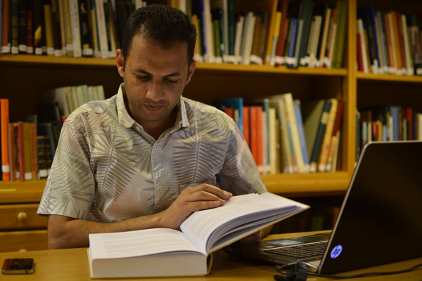 Mohamed Gamal researching in the EES library