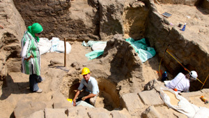 Excavations at the mastaba