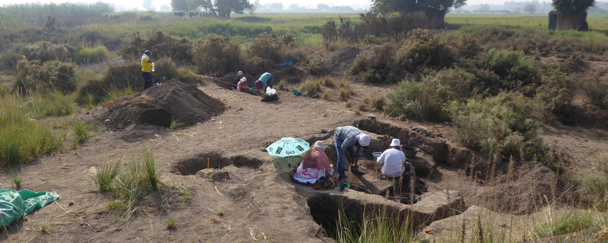 Excavations at the site of Sais