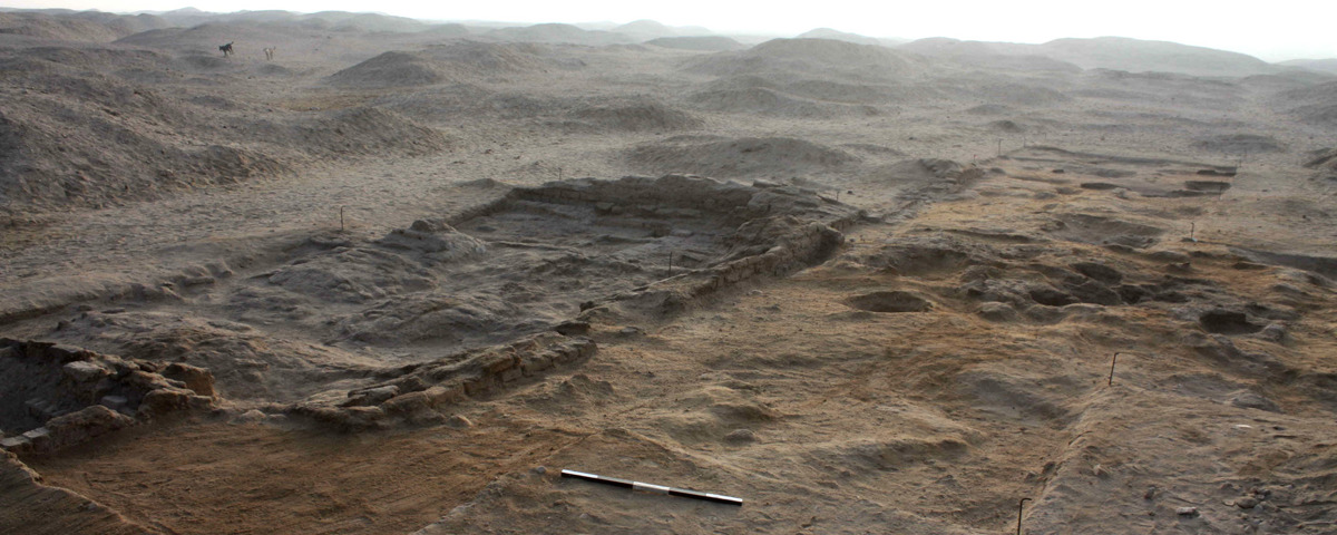 An excavated workshop (M50.14-16) at Amarna